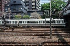 JR pociąg jr Zachodni - Tokaido Główna linia - jr stacja - Zdjęcia Royalty Free