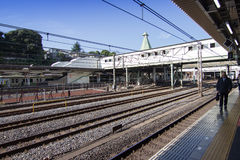 JR railway station in Tokyo, Japan Stock Images