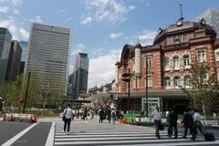 JR Tokyo Station in Tokyo, Japan. People walk past JR Tokyo Station in Tokyo, Japan Stock Image