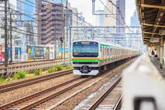JR train Yamanote line is the main transportation of people in Tokyo Japan Royalty Free Stock Photos