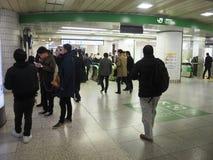 JR treinpoort Stock Foto's