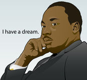 Jr. van Martin Luther King. stock illustratie