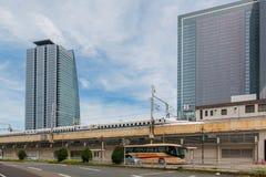 JR. zentrale Türme von Nagoya-Station in Japan Lizenzfreie Stockfotografie