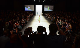JRAA Code fashion show. SYDNEY / AUSTRALIA - 20 May: Model walks on runway during JRAA Code show at Mercedes Benz Fashion Week Australia on 20 May 2016 in stock images