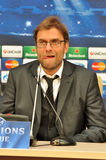 Jürgen Klopp shows tongue Stock Photography