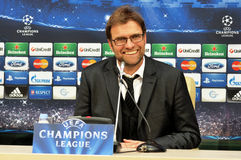 Jürgen Klopp smiling Royalty Free Stock Images