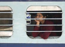 Järnväg plattform Rajastan Indien Royaltyfria Bilder