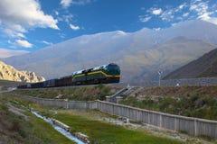 Qinghai-Tibet järnväg Royaltyfria Bilder