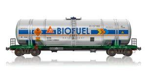 Järnväg tankcar med biobränsle Royaltyfria Bilder