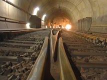 järnväg tunnel Royaltyfri Bild