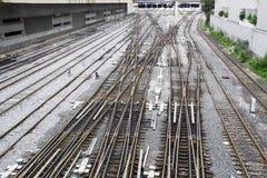 järnvägar Arkivfoto