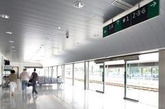 Järnvägen posterar korridoren Arkivbild