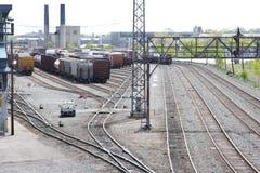 järnvägmaterielgård Royaltyfri Bild
