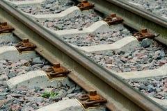 järnvägspår Arkivfoto