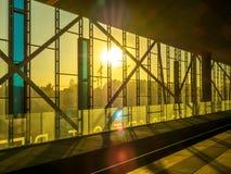 Järnvägsspår på stationen Royaltyfri Foto