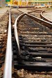 järnvägströmbrytarespår Arkivbild