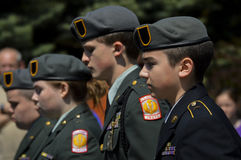 JROTC members march in Fourth of July Parade Stock Photo