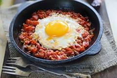 Jscrambled-Eier mit Tomaten Lizenzfreies Stockbild