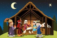 Jésus-Christ et trois sages Photo stock