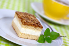 JTasty Cream Honey-Almond Cake Stock Images