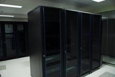 Jätte- datorserverrum Arkivfoto