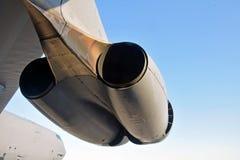 Jätte- jetmotorer Fotografering för Bildbyråer