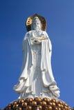 Jätte- staty av Kuan-Yin i Sanya, Hainan (Kina) Fotografering för Bildbyråer