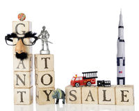 Jätte Toy Sale Fotografering för Bildbyråer