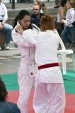 Ju jitsu demonstration at Stars in the Sport 2010 royalty free stock photo