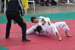 Ju jitsu demonstration at Stars in the Sport 2010 royalty free stock photography