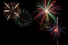Ju; visualizzazione dei fuochi d'artificio di y quarto Fotografie Stock Libere da Diritti
