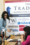Ju Wenjun and Hou Yifan. Professional chess player China, Playing chess tournament Gibraltar Tradewise Festival in January and February 2015. It is an editorial stock photography