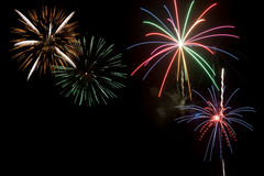 Ju;y 4th fireworks display Royalty Free Stock Photos