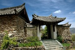 Ju Zhu Qing Tian, China: Old Stone Village House Royalty Free Stock Photos