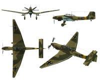 JU87D Stuka. Dive bomber from the World War II Stock Photography