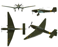 JU87D Stuka. Dive bomber from the World War II Stock Image