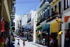 Juan παλαιό Πουέρτο Ρίκο SAN Στοκ φωτογραφία με δικαίωμα ελεύθερης χρήσης