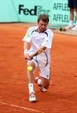 Juan Carlos Ferrero della Spagna a Roland Garros fotografia stock