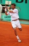 Juan Carlos Ferrero van Spanje in Roland Garros Royalty-vrije Stock Foto's