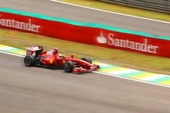 Juan Carlos Fisichella de Ferrari Fotografía de archivo libre de regalías