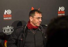 Juan Carlos Monedero all'evento del cinema di settimana di prima di Madrid nel quadrato di Callao, Madrid Fotografie Stock Libere da Diritti