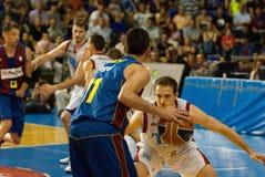 Juan Carlos Navarro bawić się againts TAU Vitoria Zdjęcie Stock