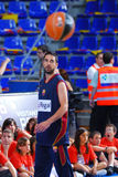 Juan Carlos Navarro plays againts TAU Vitoria basketball team Royalty Free Stock Images