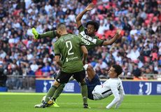 Juan Cuadrado. Football players pictured during preseason friendly game game between Tottenham Hotspur and Juventus Torino on August 28, 5 at Wembley Stadium in Royalty Free Stock Photography