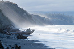 Juan de Fuca bluffs closer Stock Photo