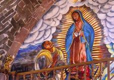Juan Diego Guadalupe Painting Parroquia Church San Miguel de Allende Mexico Stock Images
