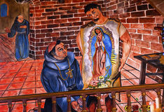 Juan Diego Guadalupe Painting Parroquia Church San Miguel de Allende Mexico Stock Photo