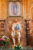 Juan Diego Statute Guadalupe Shrine Stock Photography