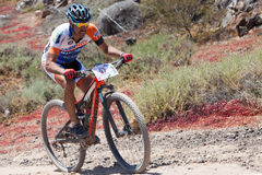 JUAN FRANCISCO GIL N97in action at Adventure mountain bike marathon  Stock Images