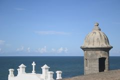 juan gammala Puerto Rico san Arkivfoton